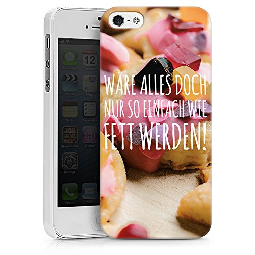 Apple iPhone X Silikon Hülle Case Schutzhülle Humor Diät Sprüche Hard Case weiß
