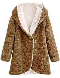 Abrigo Mujer Otoño Rebajas,EUZeo,Invierno Elegantes Sudadera Tallas Grandes Abrigo con Capucha Sobretodo