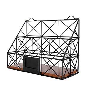 vanra zeitschriftensammler zum aufh ngen metalldraht 2 f cher f r den schreibtisch zur. Black Bedroom Furniture Sets. Home Design Ideas