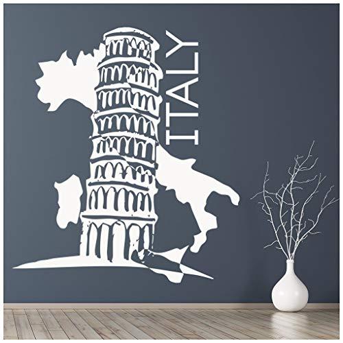 Italien Kleines Leder (azutura Turm von Pisa Wandtattoo Sehenswürdigkeiten Italien Wand Sticker Reise Wohnkultur verfügbar in 5 Größen und 25 Farben Klein Leder Braun)
