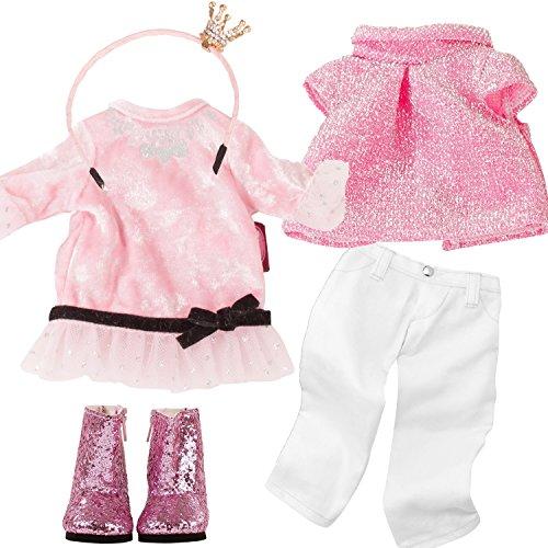 Götz 3402951 Festlich - mit Glamour für ganz besondere Anlässe - Bekleidungsset für Stehpuppen XS mit einer Größe von 27 cm (Besonderen Glamour Kleid Anlass)