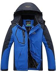 Salamaya Hombre Chaqueta de Esquí Chubasqueros Al Aire Libre Impermeable Chaqueta de Nieve Lana Capa Excursionismo Ropa de Deporte Softshell