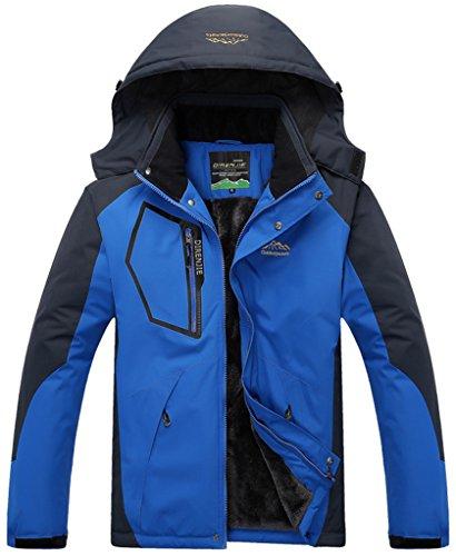 Sawadikaa Herren Winter Outdoorjacke wasserdicht Wandern Fleece Übergröße Skijacke Regenjacke Sportbekleidung