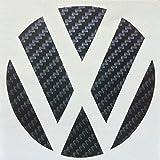 Eximtrade Auto Kohlefaser Logo Aufkleber für Volkswagen Golf 6/7 Magotan (Schwarz)