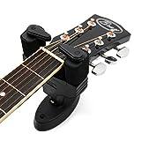 Support mural noir pour instrument de musique pour guitare acoustique Yamaha F310 , F310T, F370, Epiphone DR-100, EJ-200SCE & Ibanez V50NJP-NT, Ts-Ideen avec bras rembourrés - ouverture et fermeture automatique (vis incluses)