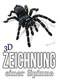 3D Zeichnung einer Spinne