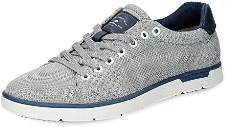 TOM TAILOR 4880305 Herren Sneaker Meshmaterial Textilfutter Flexible Laufsohle