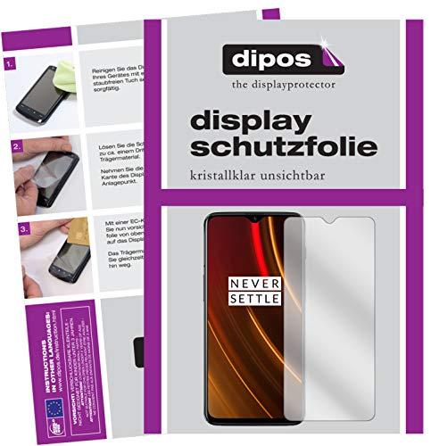 dipos I 2X Schutzfolie klar passend für OnePlus 6T McLaren Edition Folie Displayschutzfolie