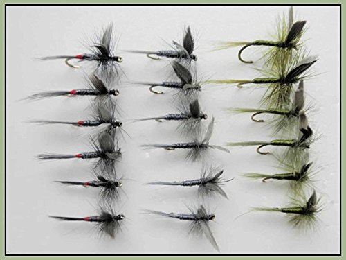 6/St/ück GOLDHEAD Olive Wooly Bugger Trout Fliegen Auswahl von Gr/ö/ßen f/ür Fliegenfischen