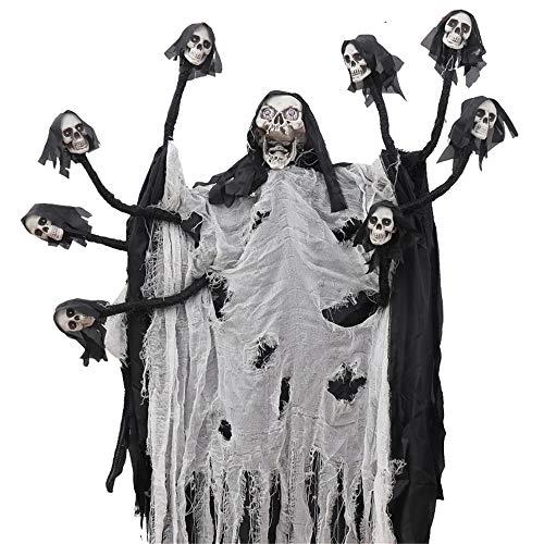 KLJJQAQ Halloween-Dekoration Haunted House Bar KTV Horror Leuchtende Geister Geister Dekoration - Sexy Haunted Zombie Kostüm