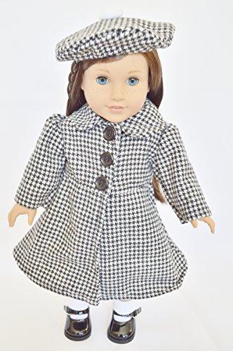 Pied de poule Swing Cappotto per bambole American Girl