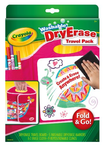Crayola Dry-Erase Fold and Go Travel Pack by Crayola
