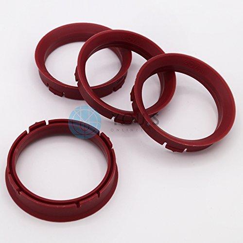 4 x ZENTRIERRINGE DISTANZRING für ALUFELGEN FZ83 66,45 - 57,1 mm CMS, DBV, Proline Wheels, Schmidt Revolution