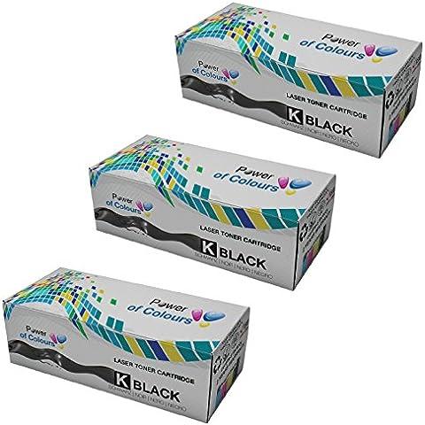 3x Nero Cartucce Toner sostituzione per HP CE505X/05X (6,500 Pagine) - LaserJet P2030, P2033, P2033D, P2033N, P2034, P2034D, P2034N, P2035, P2035D, P2035N, P2036, P2036D, P2036N, P2037, P2037D, P2037N, P2050, P2053, P2053D, P2053N, P2054, P2054D, P2054N, P2055, P2055D, P2055DN, P2055X, P2056, P2056D, P2056N, P2057, P2057D, P2057N, Canon LBP-6300DN, LBP-6650DN, MF-5840DN, MF-5880DN