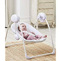 Deluxe Foldable Baby Bouncer Grey Elephant First Swing Soothing Music & Toys 0M+ 143