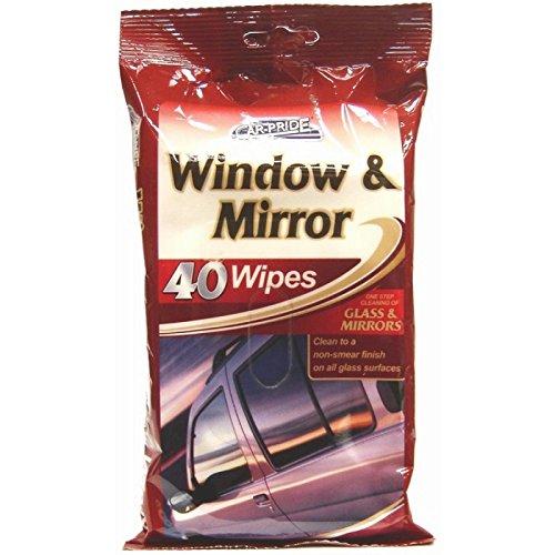 Aktive Saugfähig (80Auto Fenster & Spiegel Tücher 2Packungen von 40)