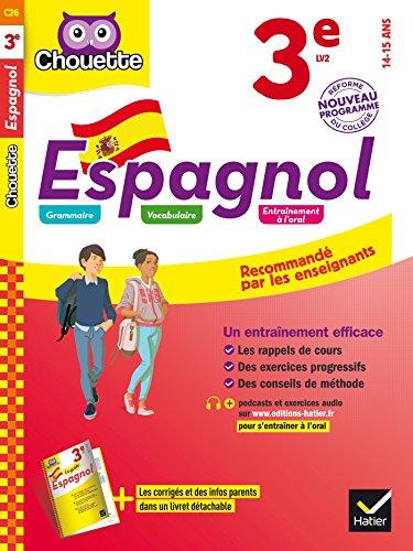 Espagnol 3e - LV2 (niveau A2): cahier d'entraînement et de révision