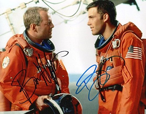 FM Armageddon - Bruce Willis & Ben Affleck Signiert Autogramme 21cm x 29.7cm Plakat Foto (Ben Bruce Poster)