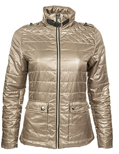 Cavallino Marino by HKM Reitjacke -Silver Stream quilted-, camel, XXL