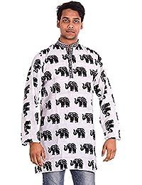 lakkar Haveli - Camisa casual - Básico - cuello abuelo - para hombre