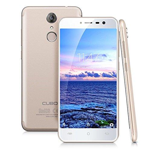 4G-LTE Dual Sim Smartphone- Cubot Note Plus- 5.2 Zoll Android 7.0 smartphone ohne Vertrag, Quad-Core 3GB RAM+32GB ROM, 16MP + 16MP Dualkamera, Fingerabdrucksensor, 8.5mm ultra dünn, 2800mAh Akku(Gold)