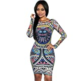 Robes, FEITONG Moulantes Pencil Slim Manches Longues Femmes Sexy Party ...
