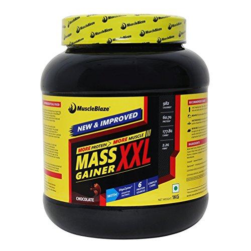 MuscleBlaze Mass Gainer XXL, 1kg / 2.2 lb Chocolate