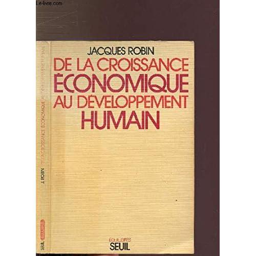 De la croissance économique au developpement humain