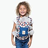 Ergobaby Puppentrage Kinder-Spielzeug, Hello Kitty Blau Tragetasche für Baby Puppe, Puppentragetasche aus 100% Baumwolle
