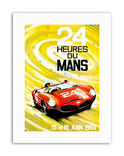MOTOR RACE LE MANS 24 HOUR SPEED CAR CLASSIC Poster Sport Canvas art Prints (Classic Car Motor Oil)
