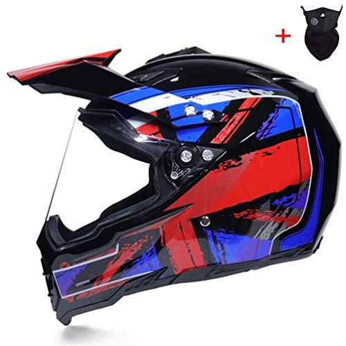 Preisvergleich Produktbild Männer Off Road Motorradhelme mit Visier Anti Shock Sand Winddicht UV Schutz Motorradhelm Universal Protective Motocross Racing Sicherheitskappen Hut