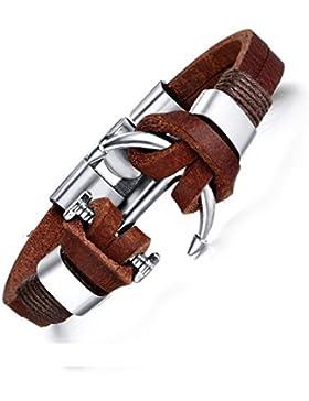 YAZILIND Schnalle armband mode echtes leder Gebogene Haken form hochwertige legierung armreif kaffee