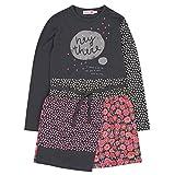 boboli 404042, Vestido para Niñas, Negro (Pizarra) 128 (Tamaño del Fabricante:128cm)