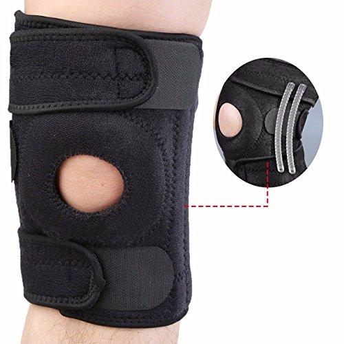 Atmungsaktive SBR Kniebandage mit Spiralfedern für Damen und Herren Knieschoner Knieschützer Knieorthese (Mesh-kniebandage)