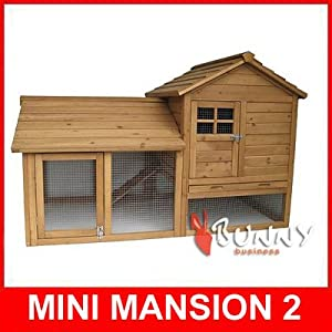 Mini Mansion 2 Rabbit Hutch and Enclsoure hutches run runs from Bunny Business