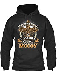 teespring Men's Novelty Slogan Hoodie - Everything Possible With McCoy