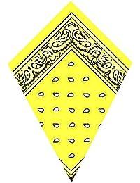 Bandana Jaune Foulard Paisley (Yellow Bandana)