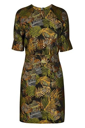 next Robe en jacquard à motif palmier Standard Femme Kaki/Doré