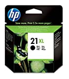 HP 21XL - Cartucho de tinta Original HP 21XL de álta capacidad, color negro