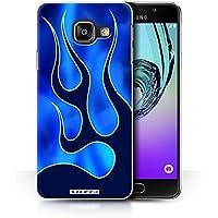 Coque de Stuff4 / Coque pour Samsung Galaxy A3 (2016) / Bleu/Marine Design / Travail Peinture Flamme Collection