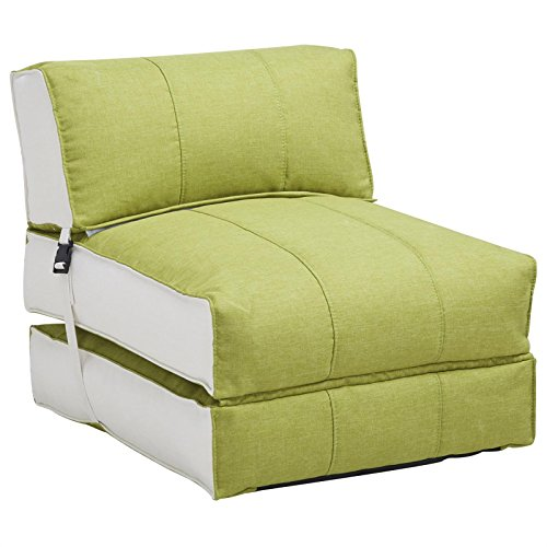 Schlafsessel Faltmatratze DAKAR Sofaliege Gästebett Klappmatratze Gästematratze Reisematratze grün/beige
