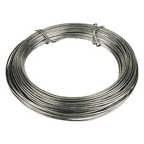 Bulk Hardware BH00326 Galvanised Coated Garden Wire, 1.6mm x 30 Metres (97.5ft) 14 Gauge 1/16 inch