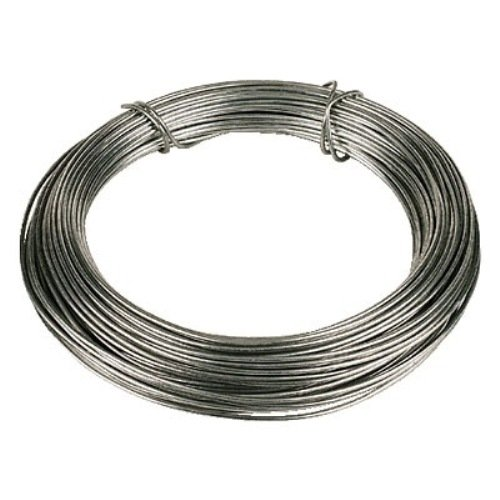 Bulk hardware bh00326 galvanised coated garden wire 16mm x 30 bulk hardware bh00326 galvanised coated garden wire 16mm x 30 metres 975ft 14 gauge 116 inch thickness amazon diy tools greentooth Image collections