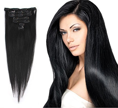 Cheveux long noir lisse