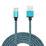 Demarkt USB C Kabel auf USB 3.0 Schnelles Aufladen Type C Ladekabel Nylon Geflochtenes für USB C Geräte Galaxy S8 Nexus 5X/6P N1 OnePlus 2/3 MacBook 1m lang Hellblau