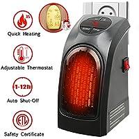 Handy Heater 350W Keramik Mini Heizung Thermostat Elektrische Heizung mit Timer Heizlüfter für Steckdose mit Geschenk