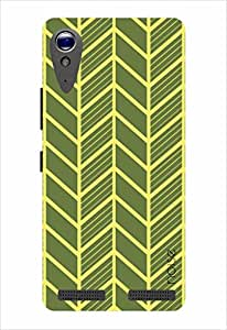 Noise Yellow Veins Printed Cover for Lenovo A6000
