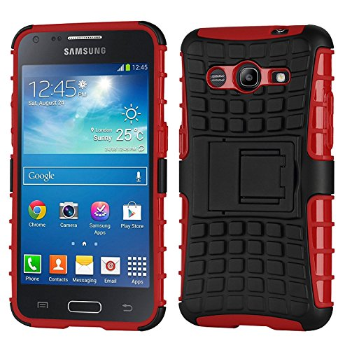 Cruzerlite Galaxy Core 2 Case Spi-Force Dual Layer Case for the Samsung Galaxy Core 2 - Retail Packaging - Red