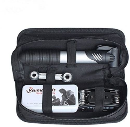 Wosonku 16 in 1 Bicycle Cycling Tyre Repair Multi Tool Set Kits With Mini Portable Pump Mini-multi-kit
