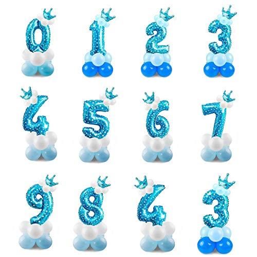 Palloncini Decorazione feste Bambini forma di numero